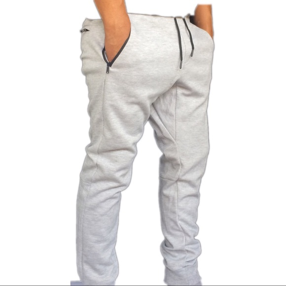 ca5132b64b7d Men s zip pockets slim fit jogger sweatpants NWT